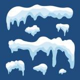 Snow ice icicle set Stock Image