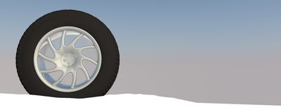 Snow Ice Tire concept 3d rendering illustration Royalty Free Stock Image