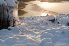 Snow, ice and water 1. Stock Images