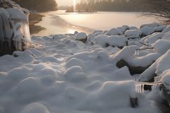 Snow, ice and water 2. Royalty Free Stock Image