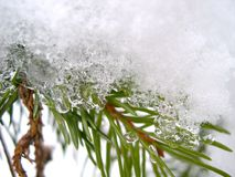 Snow and ice in winter royalty free stock photography
