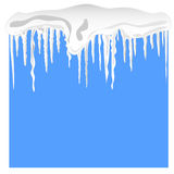Snow and icicles Royalty Free Stock Photography