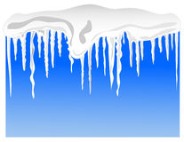 Snow and icicles Royalty Free Stock Images