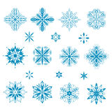 Snow icons Stock Photo