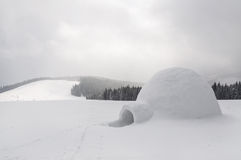 Snow igloo. In the high mountain Stock Image