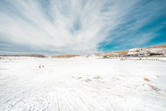 Free Snow In Front Of ASO VOLCANO MUSEUM Stock Images - 48520144