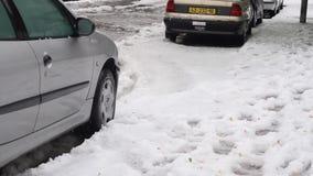 Snow in Israel. 2013. stock video footage