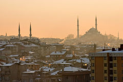 Snow in Istanbul Royalty Free Stock Images