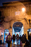 Snow at Istanbul Grand Bazaar Royalty Free Stock Photography