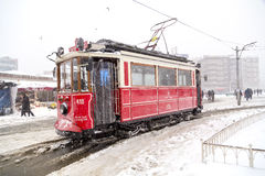 Snow in Istanbul Stock Photo