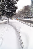 Snow in Istanbul Royalty Free Stock Photos