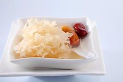 Snow jelly fungus Stock Photo