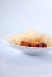 Snow jelly fungus Royalty Free Stock Image