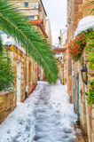 Snow in Jerusalem Stock Image