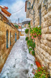 Snow in Jerusalem Royalty Free Stock Images