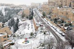 Snow in Jerusalem Royalty Free Stock Photo