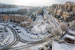 Snow in Jerusalem Stock Images