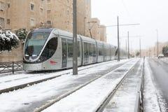 Snow in Jerusalem Stock Photo
