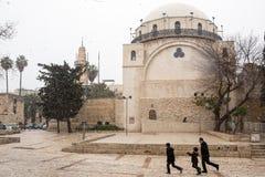 Snow in Jerusalem Royalty Free Stock Photos