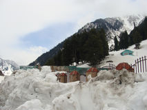 Snow at kashmir. Its photo of snow at kashmir in India stock image
