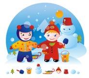 Snow kid Royalty Free Stock Photo