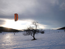 Snow kiting Royalty Free Stock Photography