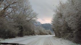 Snow. In Kotor stock image