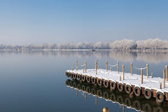 Snow the Kunming Lake. Eastphoto, tukuchina, Snow the Kunming Lake, Transportation, Bridge Stock Images