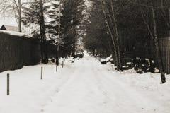 Snow långt Royaltyfri Bild