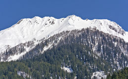 Snow laden peaks at Kashmir. Beautiful shot of snow laden peaks during snowfall at Kashmir, india Stock Image