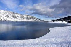 Snow lake. In the bulgarian Rila mountain Royalty Free Stock Images