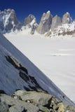 Snow lake climb. Climbing on the snow lake area in the middle of biafo hispar trek, baltistan karakoram range Royalty Free Stock Photos