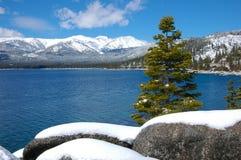 Snow at Lake Tahoe Stock Photography