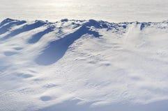 Snow on the land. Stock Photos