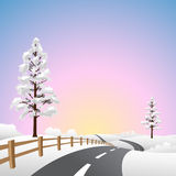 Snow Landscape Stock Images