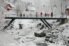 Snow landscape. Berum Verk,Norway - Desember 2007.  Snow landscape Stock Photography