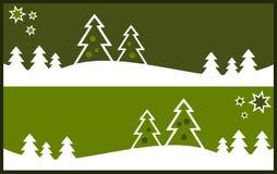 Snow Landscape Background Stock Photo