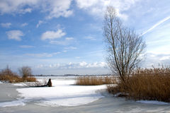 Snow landscape in Holland Stock Photo