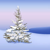 Snow landscape. The illustration of snow landscape Background. Vector image Stock Images