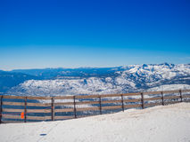 Snow landscape on Mammoth Mountain in California, US . Royalty Free Stock Photo