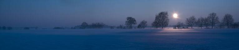 Snow landscape with mist Royalty Free Stock Photography