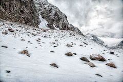 Snow landscape near glaicer in Austria mountains Stock Photography