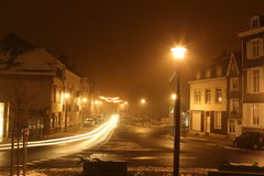 Snow landscape by night Stock Image