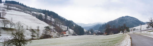Snow landscape, panorama Stock Photo