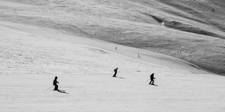 Snow landscape and ski slope Stock Images