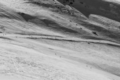 Snow landscape and ski slope Royalty Free Stock Image
