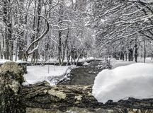 Snow landscape in winter. Spain Stock Photos