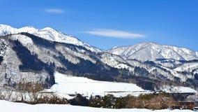 Snow landskap Arkivfoton