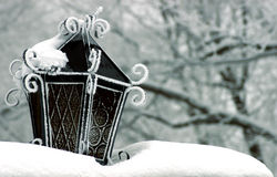Snow Lantern Royalty Free Stock Photos