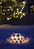 Snow lantern Stock Photos
